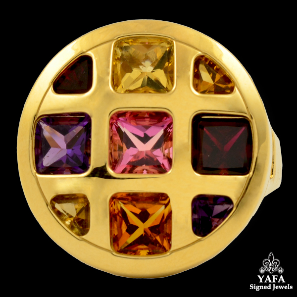 CARTIER Multi-color Semi-Precious Stones Ring
