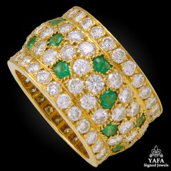 CARTIER Diamond, Emerald Wedding Band