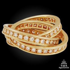 CARTIER Yellow Gold Diamond Trinity Ring - sz. 50