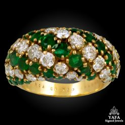 VAN CLEEF & ARPELS Pelouse Diamond Emerald Boule Ring