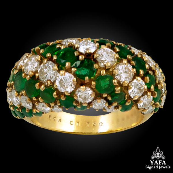 VAN CLEEF & ARPELS Diamond,Emerald Ring
