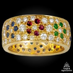 VAN CLEEF & ARPELS Diamond,Ruby,Emerald,Sapphire Wedding Band