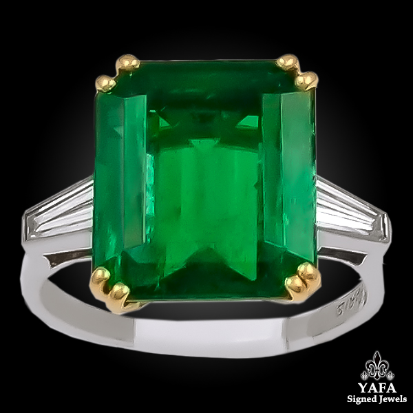 CHAUMET Two Tone Diamond,Emerald Ring