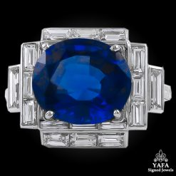 Platinum Diamond,Oval Shape Sapphire Ring