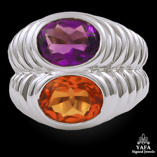 BULGARI Citrine, Amethyst Ring