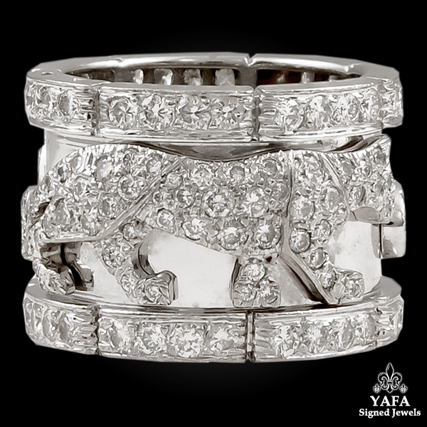 CARTIER Diamond Panther Band Ring