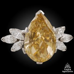 18k White Gold Fancy Brown-Yellow Diamond Ring
