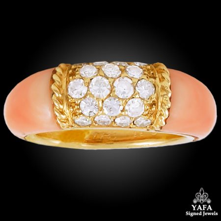 VAN CLEEF & ARPELS Diamond,Coral Ring