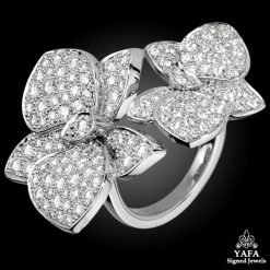 CARTIER Diamond Caresse d' Orchidees Ring