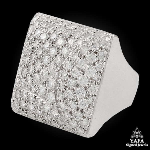 CARTIER Diamond Square Shape Ring