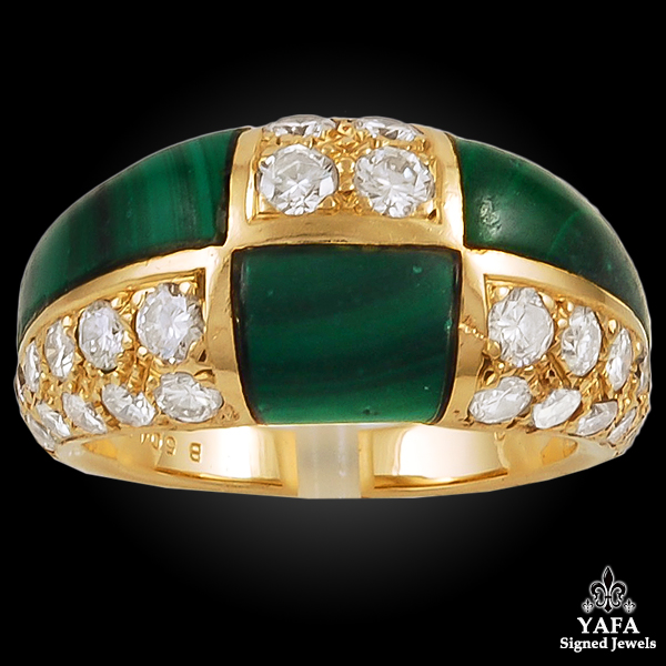VAN CLEEF & ARPELS Diamond Malachite Ring