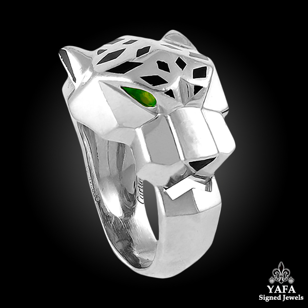 CARTIER Onyx, Tsavorite Panther Ring
