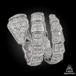 BULGARI Diamond Serpenti 3 Coil Ring