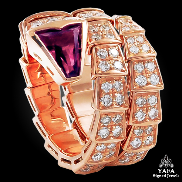 BULGARI Diamond, Rubellite Serpenti Ring