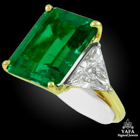 Harry Winston Colombian Emerald Diamond Ring on brooches oscar heyman