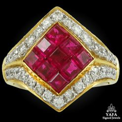 18k Gold Ruby & Diamond Ring
