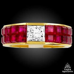 Diamond,Ruby Wedding Band Ring