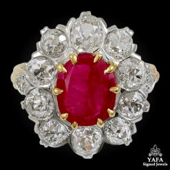 Two-tone Gold Diamond & Ruby Ring