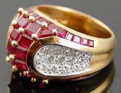 OSCAR HEYMAN Diamond & Ruby Ring