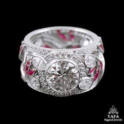 Platinum Diamond, Ruby Ring 2.57cts.