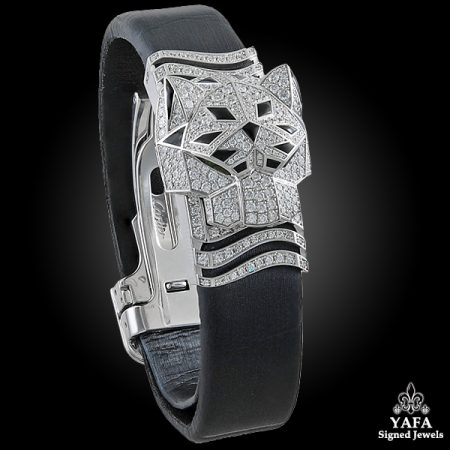 CARTIER Diamond, Onyx, Emerald Secret Watch