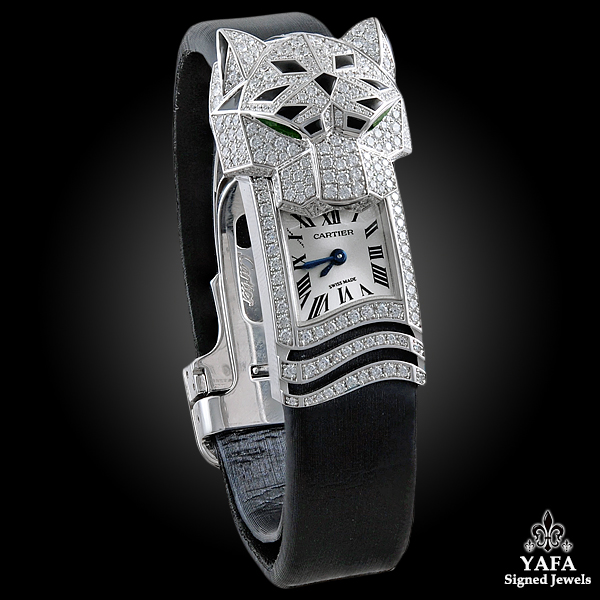 CARTIER Diamond, Onyx, Emerald Secret Watch-view2