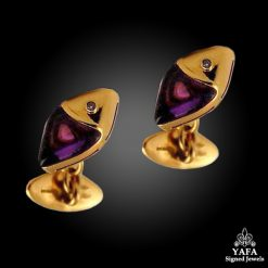 BULGARI Diamond & Amethyst Cufflinks
