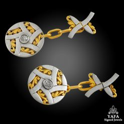 Diamond Two-Tone Gold Cufflinks