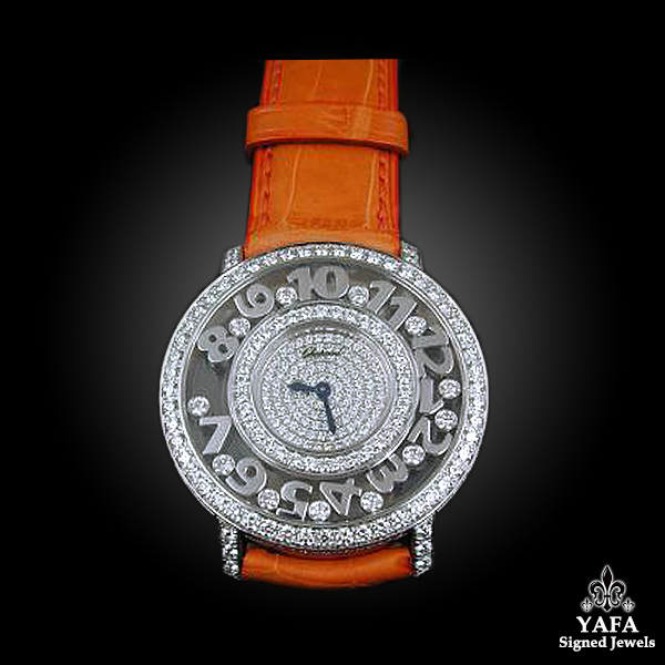 Chopard Diamond with Leather Strap Watch