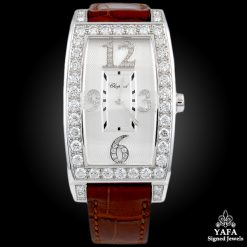 CHOPARD Diamond Leather Strap Watch