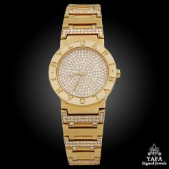 BULGARI 18k Gold Diamond Watch