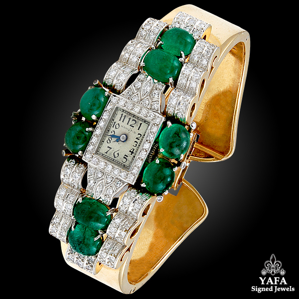 Gold Diamond, Emerald Watch