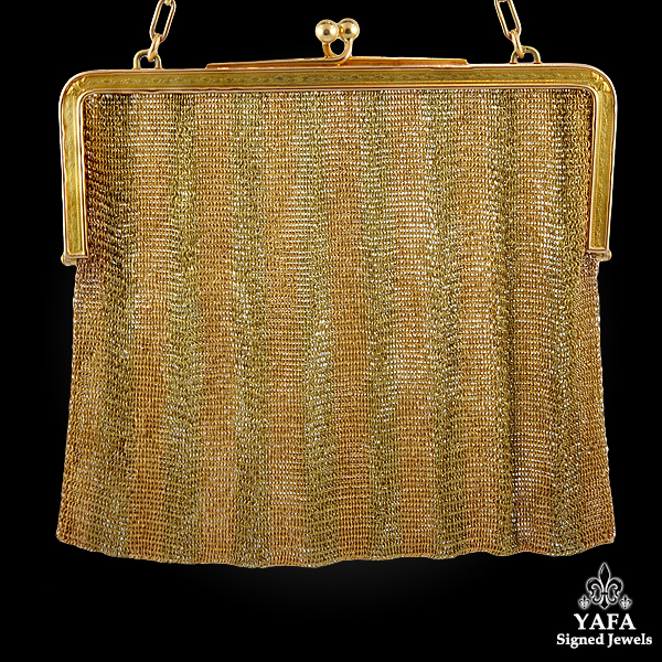 18k Two Tone Mesh Evening Bag - 218.4 grams