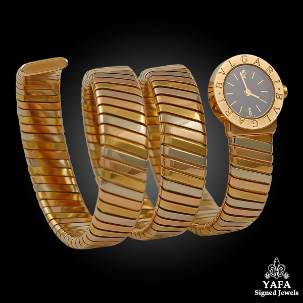 BULGARI Tri-Color Gold Tubogas Watch