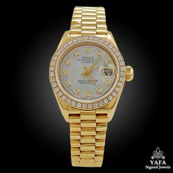 ROLEX Diamond & Mother of Pearl Oyster Perpetual Watch
