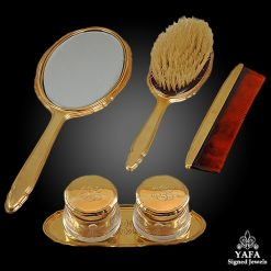 CARTIER 6 pcs. Gold Vanity Set