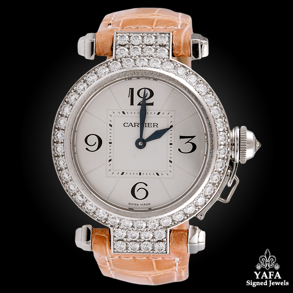 CARTIER Pasha Diamond Gold Watch