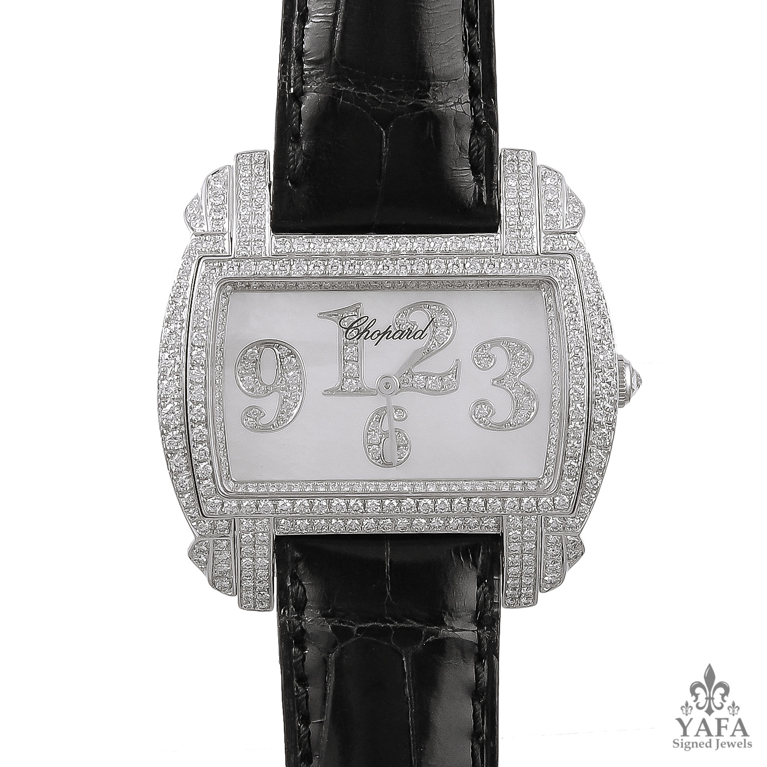 CHOPARD Diamond,Mother of Pearl Dial Watch