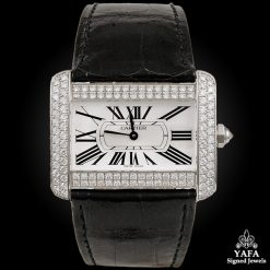 CARTIER Diamond Tank Divan Watch