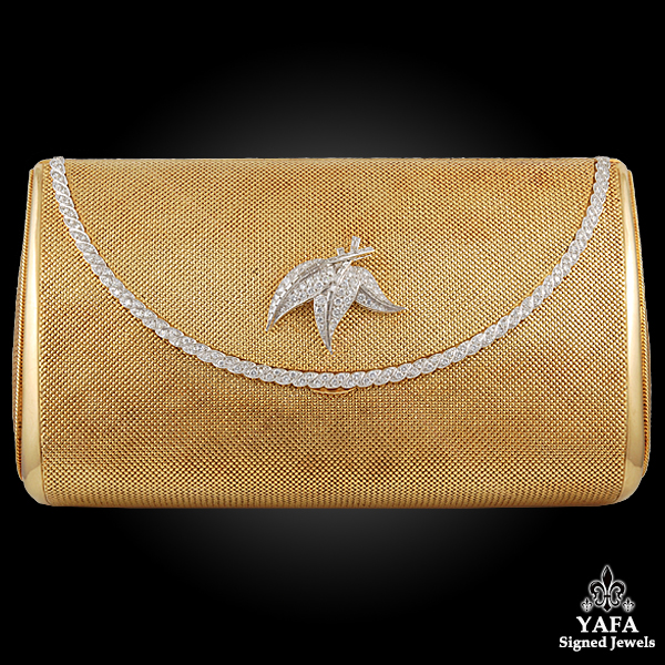Vintage Yellow Gold Diamond Evening Bag