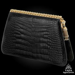 Black Alligator Diamond, Fringe Clutch