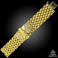 CARTIER diamond HORUS Gold Bracelet