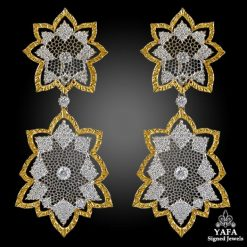 BUCCELLATI Two Tone Diamond Earrings