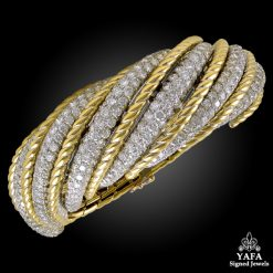 1960s VAN CLEEF & ARPELS Diamond Bangle