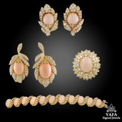 VOARAKIS Diamond & Angel Skin Coral Bracelet Suite