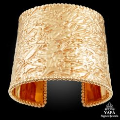 VAN CLEEF & ARPELS Textured Cuff Bangle