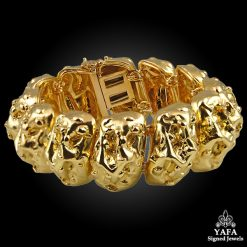 DAVID WEBB Yellow Gold Nugget Bracelet