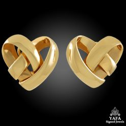 VAN CLEEF & ARPELS Heart Shaped Ear Clips