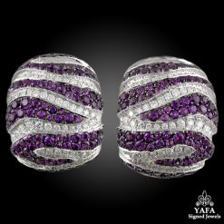DE GRISOGONO Diamond & Amethyst Earrings