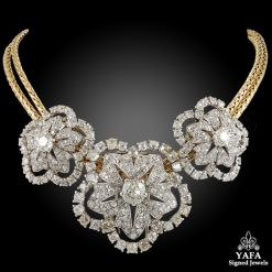 CARTIER Diamond Convertible Necklace Brooch Trio